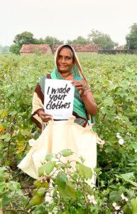 Tejuben FFP Indian cotton farmer Bhetsuda